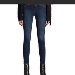 All Saints Ashby Low Rise Skinny Dark Wash Jeans